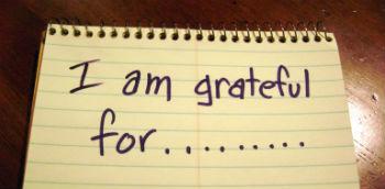 Gratitude journal.